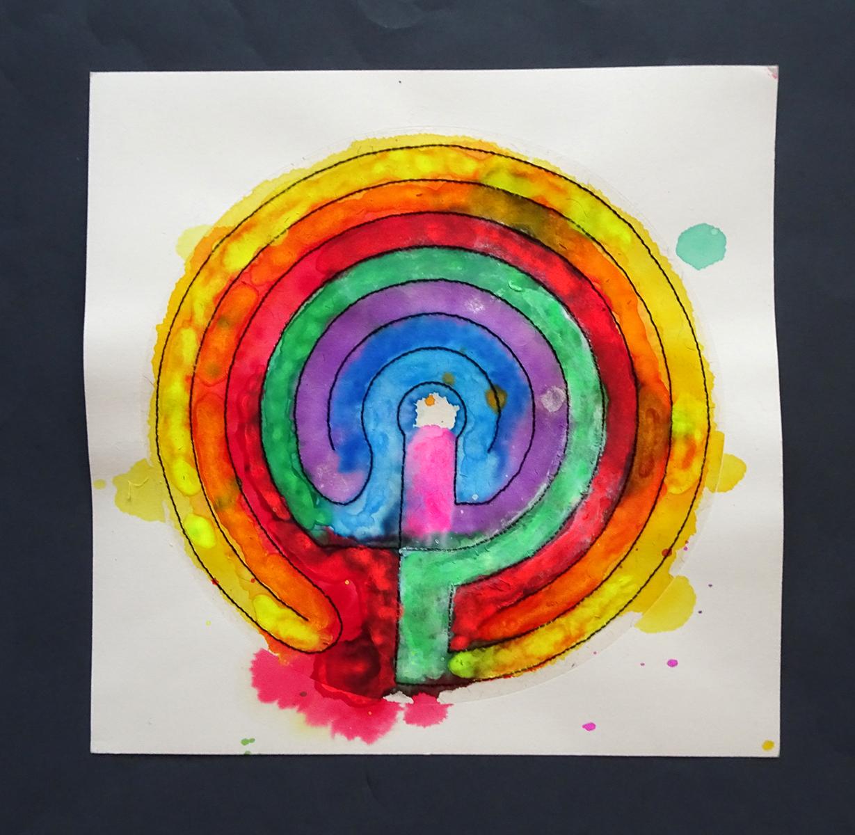 chakra painted labyrinth s